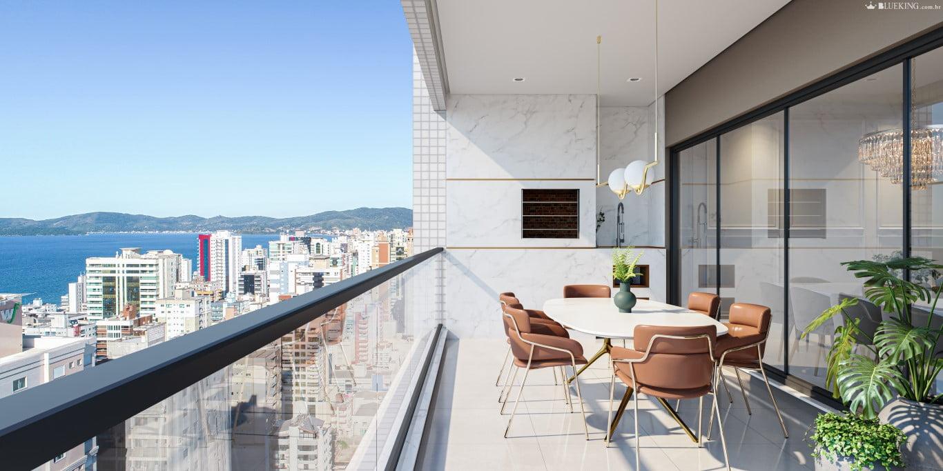 Apartamento Alto Padrão frente para 2° Avenida em Meia Praia, Itapema.